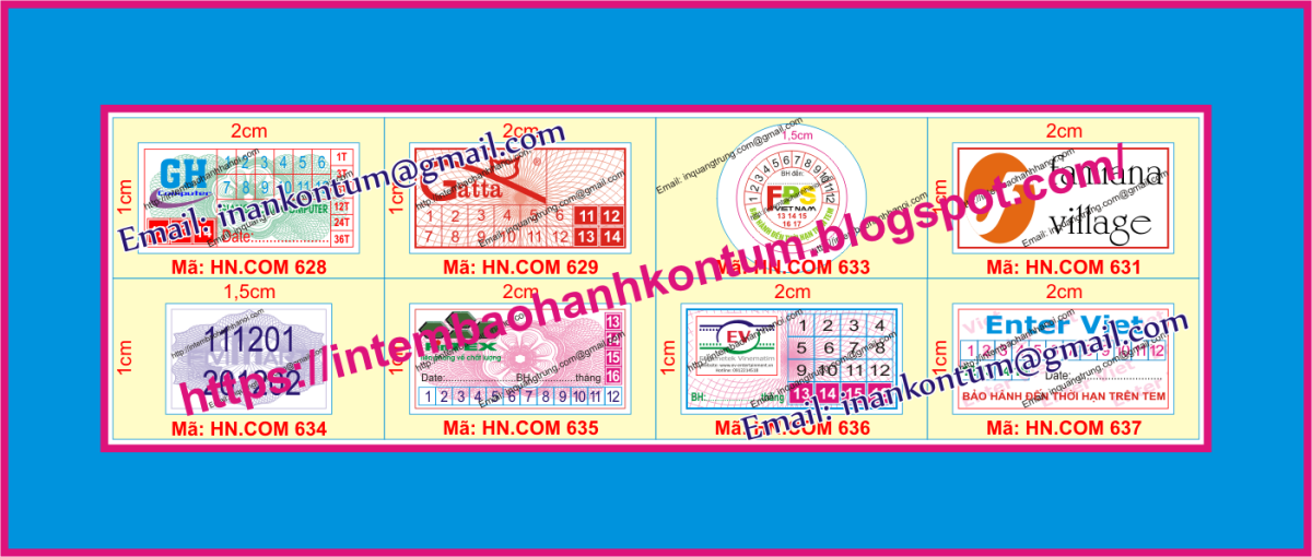 In tem bảo hành tại KonTum