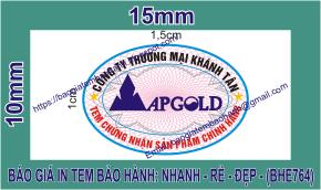 In tem bảo hành giảm giá sâu 11 % chỉ còn 175đ/cái ở tại Phường Võ Cường, Thành phố Bắc Ninh, Tỉnh BắcNinh
