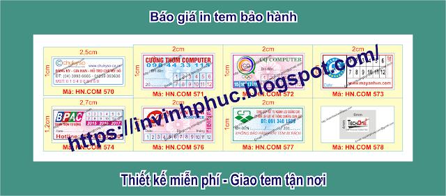 In tem bảo hành giảm giá sâu 36% chỉ còn 195đ/cái tem ở Phường Phúc La, Quận Hà Đông, Thành phố HàNội